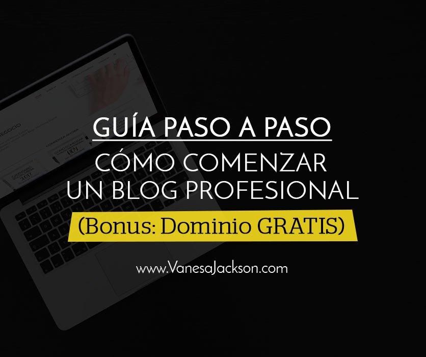 blog paso paso con dominio - Cómo Comenzar un Blog Profesional con Poco Dinero Paso a Paso