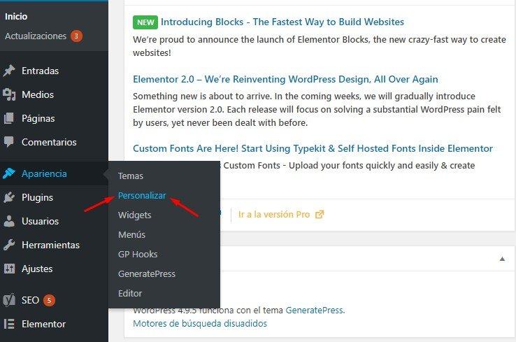 personalizar blog