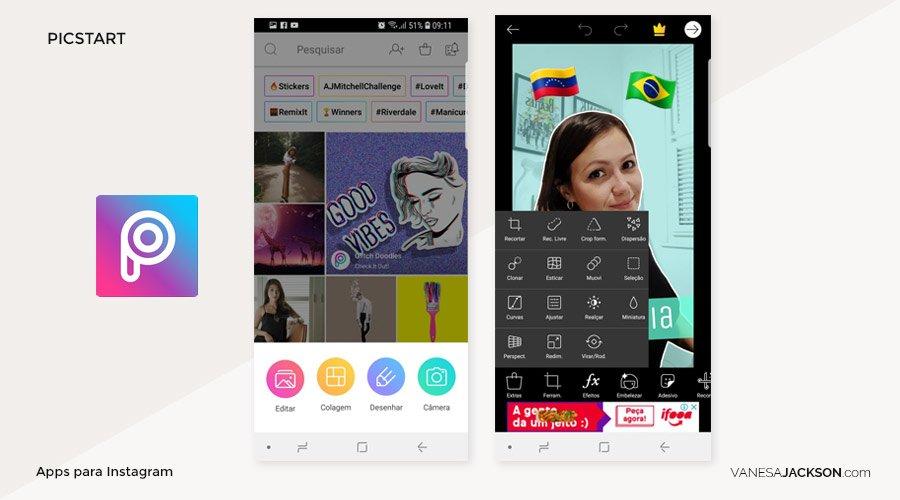 Apps para instagram Picstart